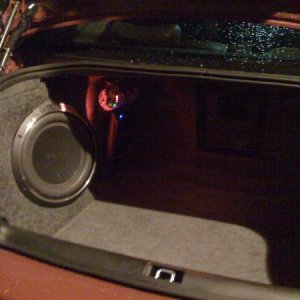 rockford fosgate sub with custom molded enclosure